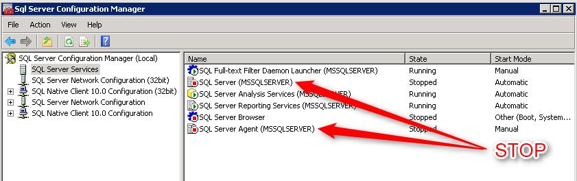 SQL Server 2008 R2 - Services